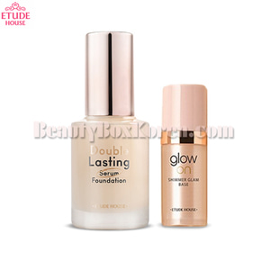 ETUDE HOUSE Double Lasting Serum Foundation 30ml&[mini]Glow On Base 8ml