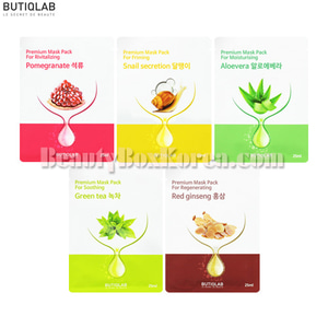 BUTIQULAB Premium Mask Pack 25ml*30ea