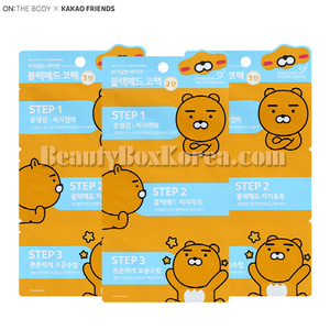 ON THE BODY Ryan&Neo 3 Steps Black Head Nose Pack 3ea[KAKAO FRIEND]